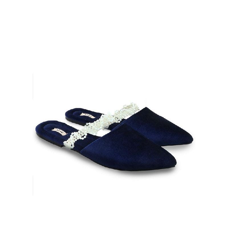 AliveLoveArts Roman Sandals Mules Navy