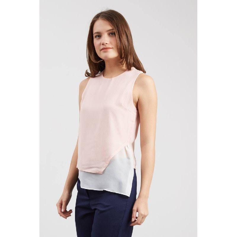 GW Klotze Top in Pink White