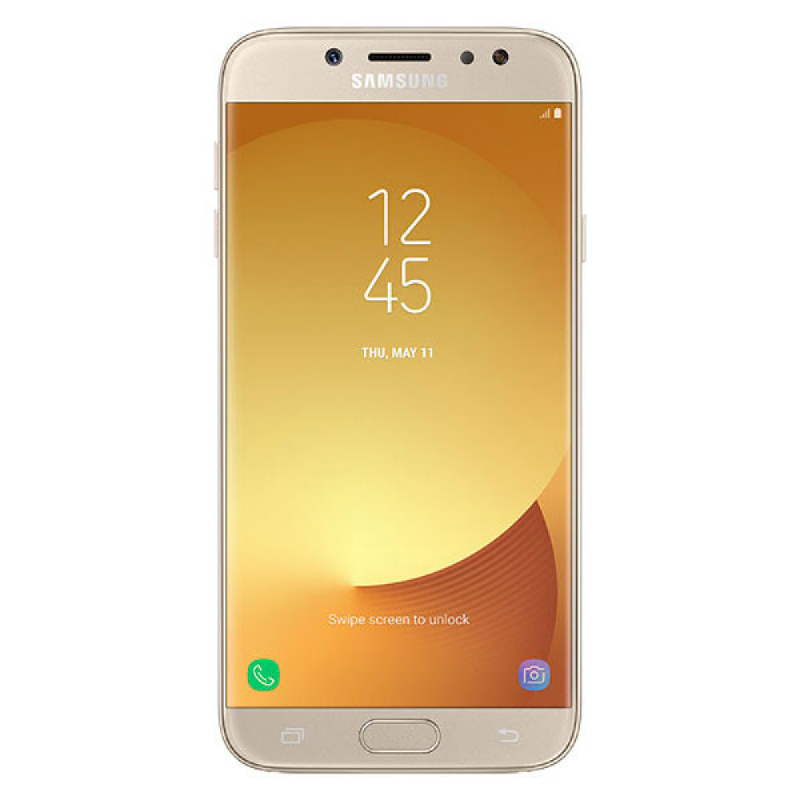 Samsung Galaxy J7 Pro Free Jelly Case - Gold