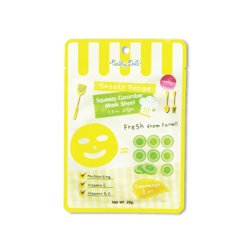 SQUEEZY CUCUMBER MASK 25g SWEETY