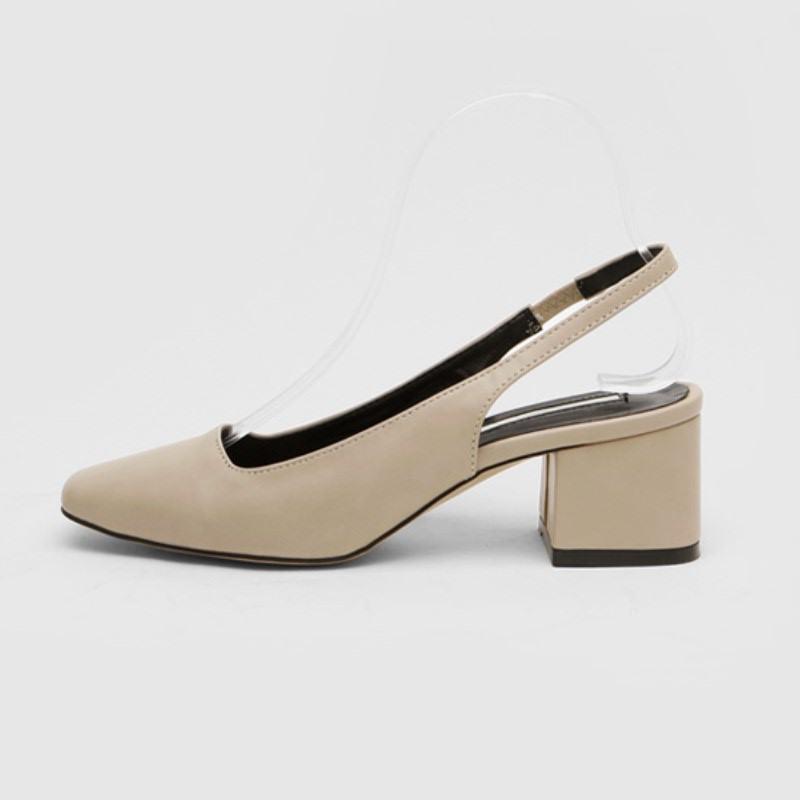 Mowen Slingback Mid Heel (6cm) Beige