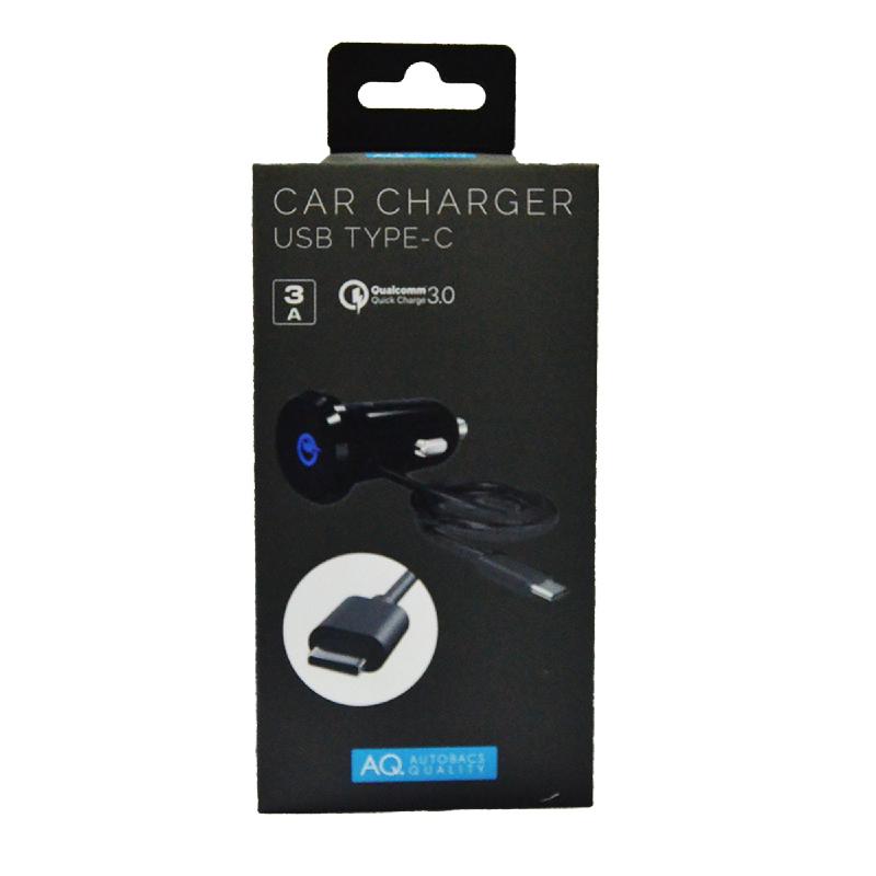 AQ Type C USB Car Charger Mobil Charger Hp Quick Charge 3.0 [Japan Import] Elektronik C02 Black