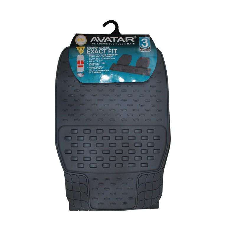 Avatar Karpet Mobil 9333 3 Buah Grey