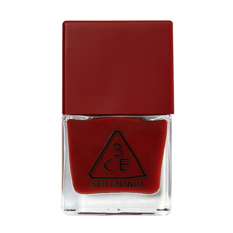 3CE Red Recipe Long Lasting Nail Lacquer - RD09 Deep and Rich Burgundy Red
