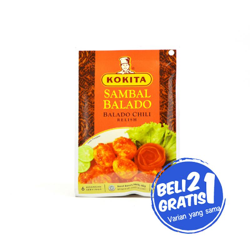 Kokita Bumbu Sambal Balado 60 Gr (Buy 2 Get 1)
