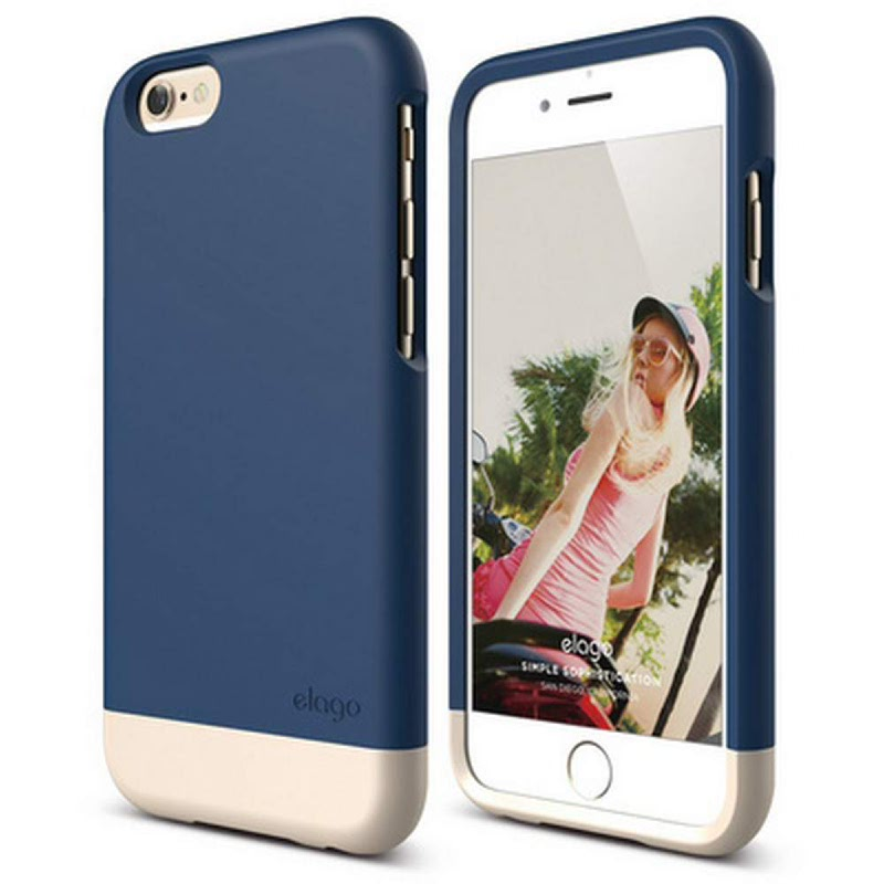 Elago Glide Case for iPhone 6 - SF Jean Indigo + SF Champagne Gold
