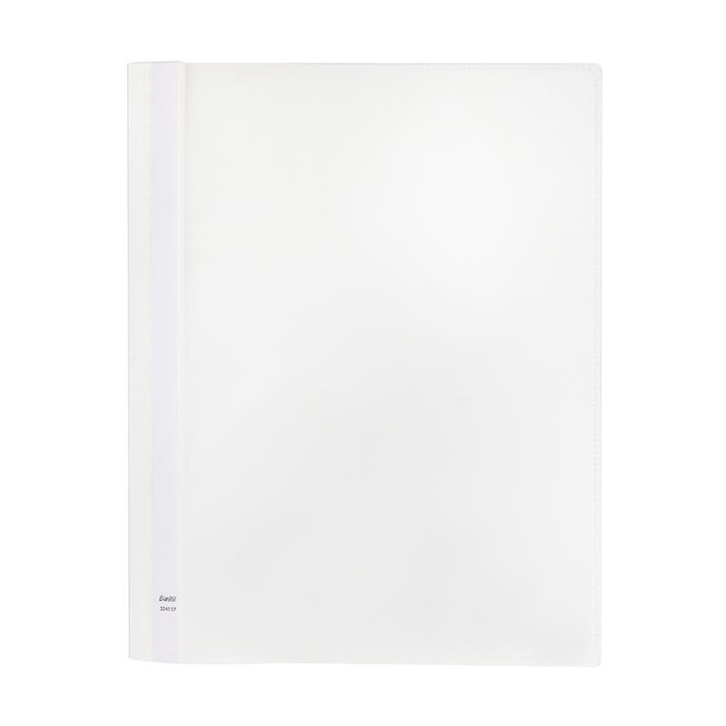 Bantex Quatation Folder With Pocket & Label on Spin A4 White -3240 07