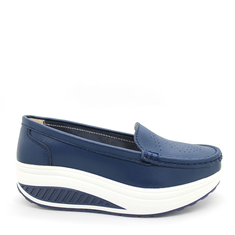 Anca Wedges Shoes A339 Navy