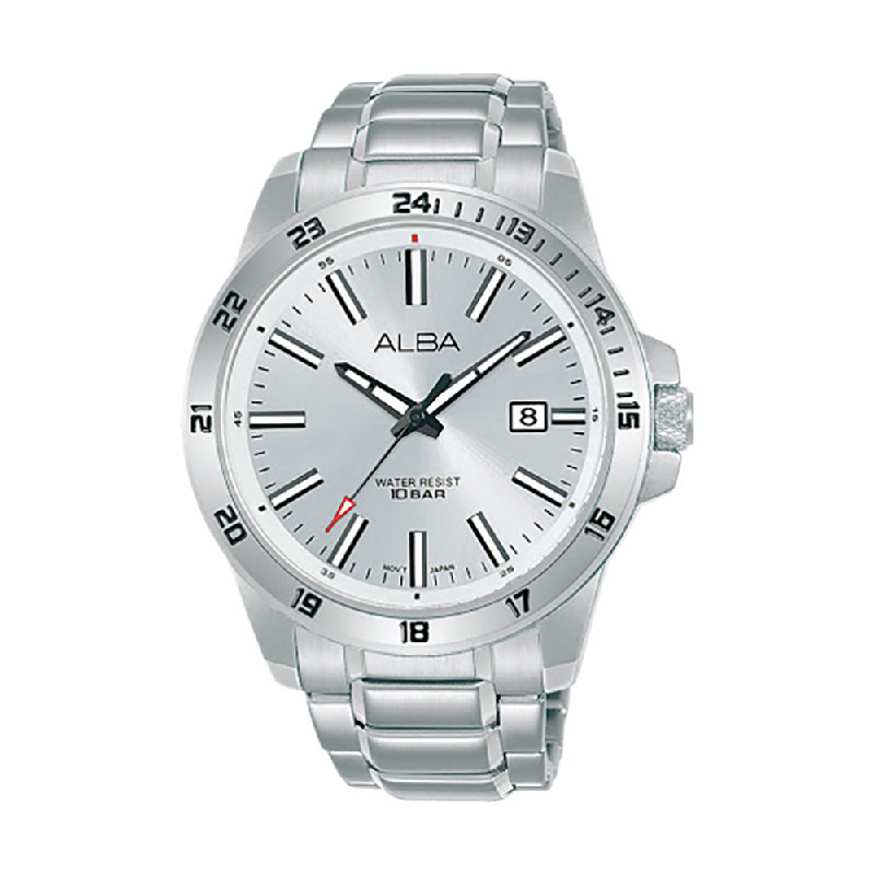 Alba Active AS9M27X1 Men Silver Dial Stainless Steel Strap