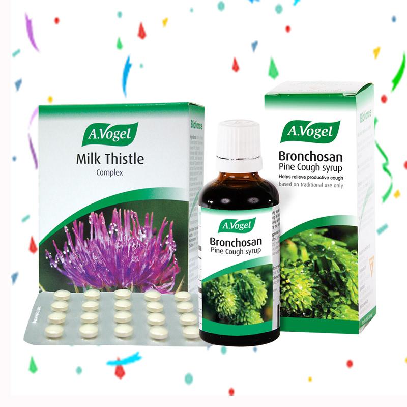 A.Vogel Milk Thistle Complex 60 Tablet + A. Vogel Bronchosan 100 ml