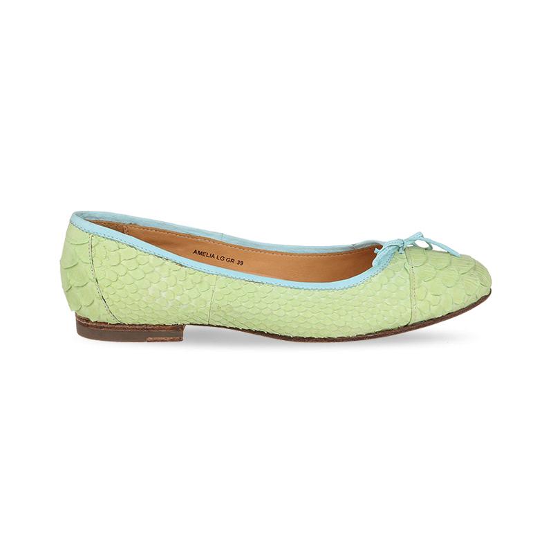 Mario Minardi Sepatu Flat Wanita Amelia Light Green