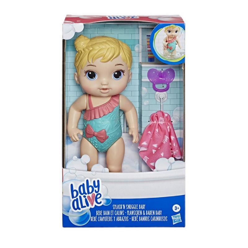 Baby Alive Splash 'n Snuggle Baby Blonde Hair - BYAE8721