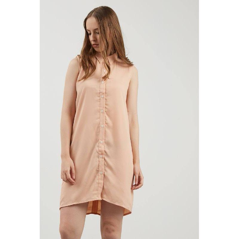 Ethelind Peach Twist Dress