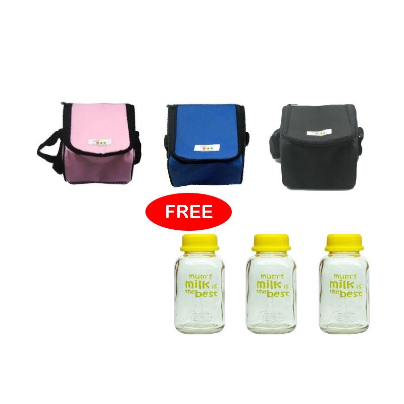 Baby Pax Bundlind 2 Coolerbag FREE Baby Pax Botol Kaca ASI [150 mL]