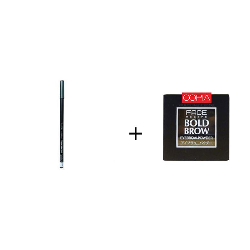 Face Recipe Eyeliner Pencil Sea Green +Face Recipe Bold Brow Medium