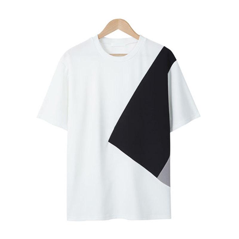 LE_Solid Line Cut T-shirt - White