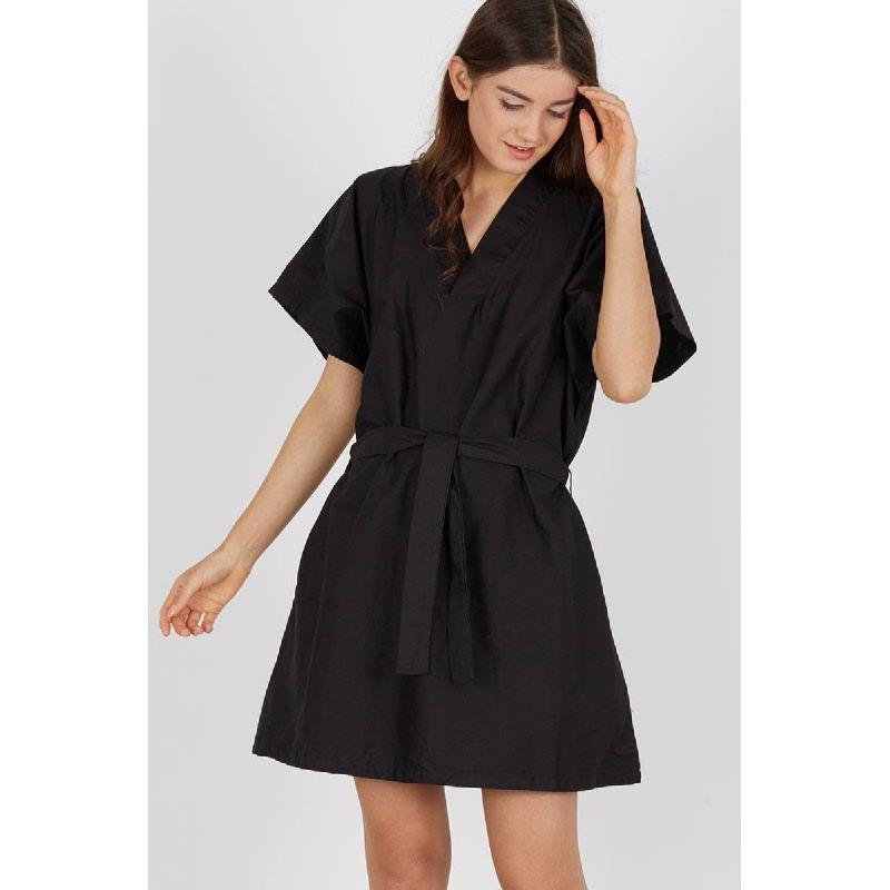 Sybila Bow Dress Black