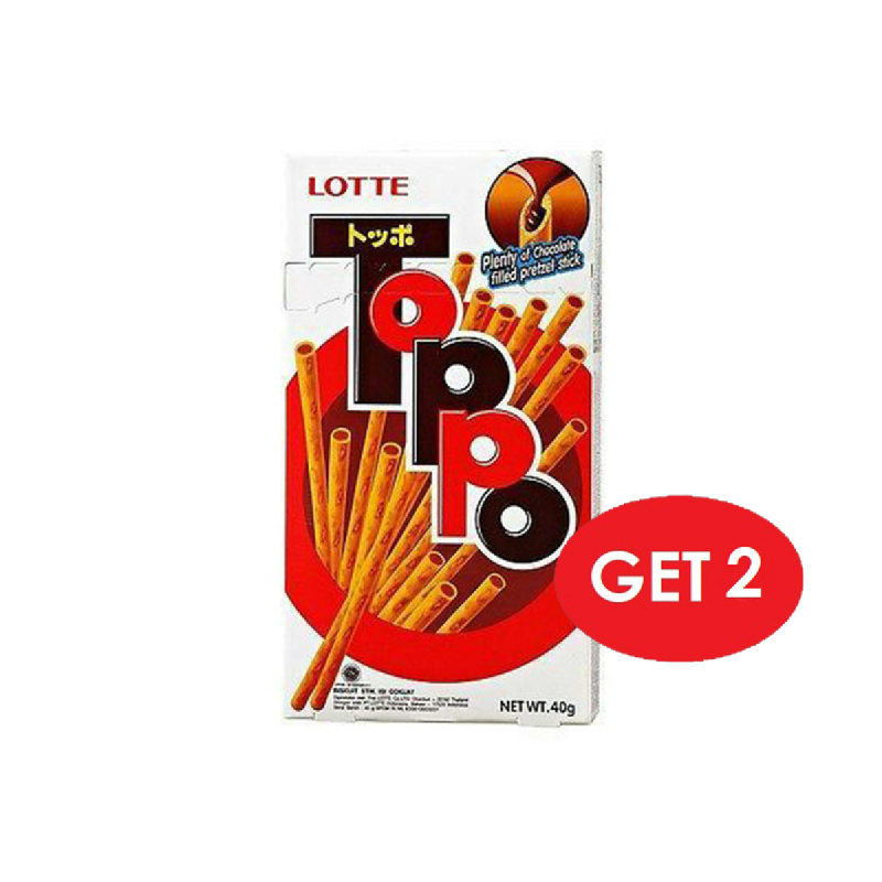 Lotte Toppo Chocolate Box 40 Gr (Get 2)