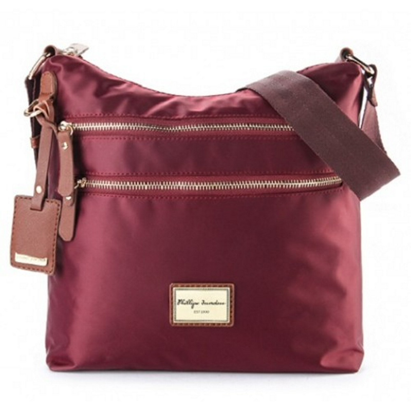 Phillipe Jourdan Helga Messenger Bag Maroon