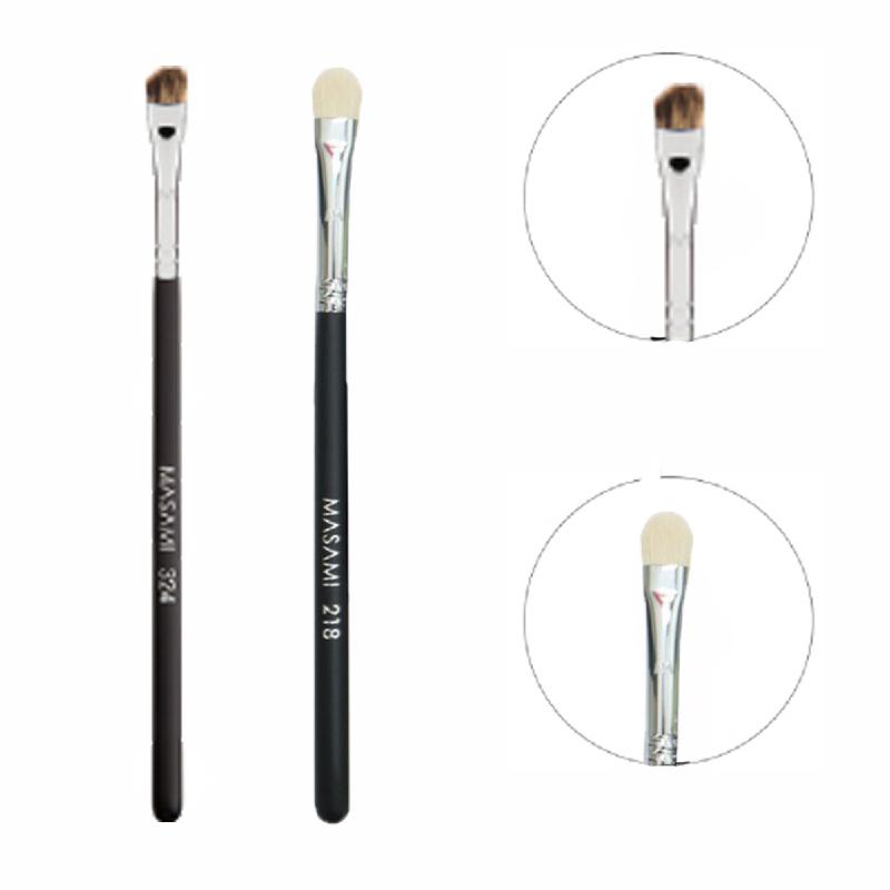 Masami 324 Angled Brow Brush + 218 Eye Blender Brush