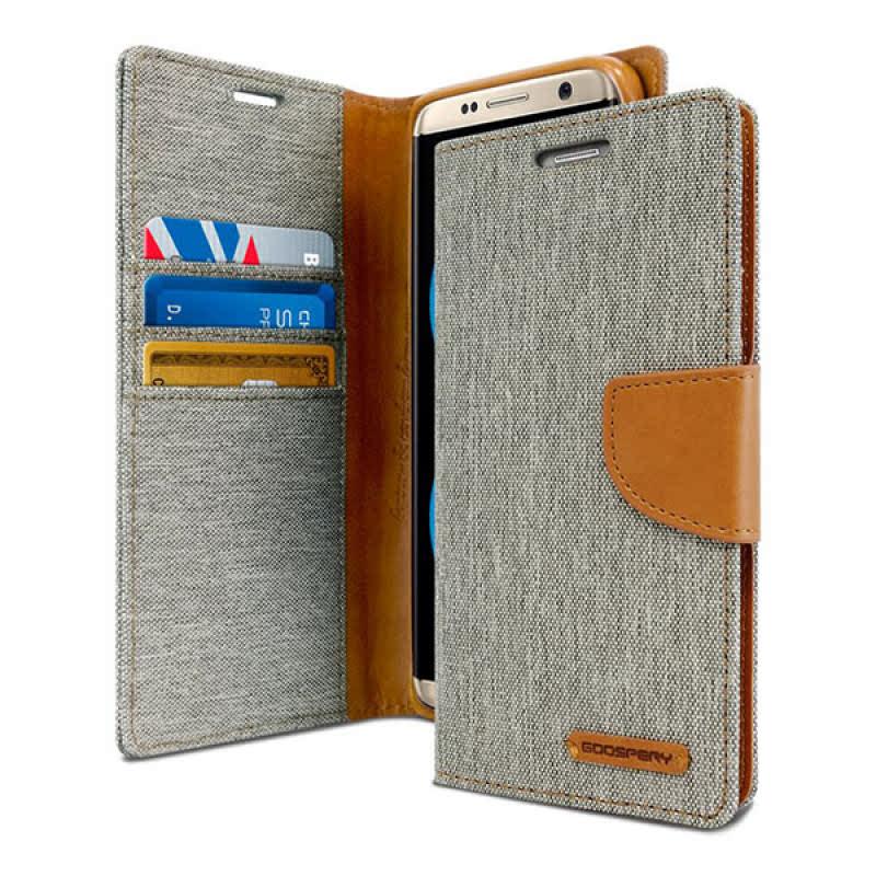 Goospery Canvas Diary Samsung Galaxy S8+ Gray