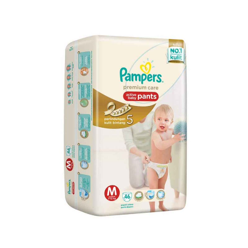 Pampers Premium Active Baby Pants Jumbo M 46
