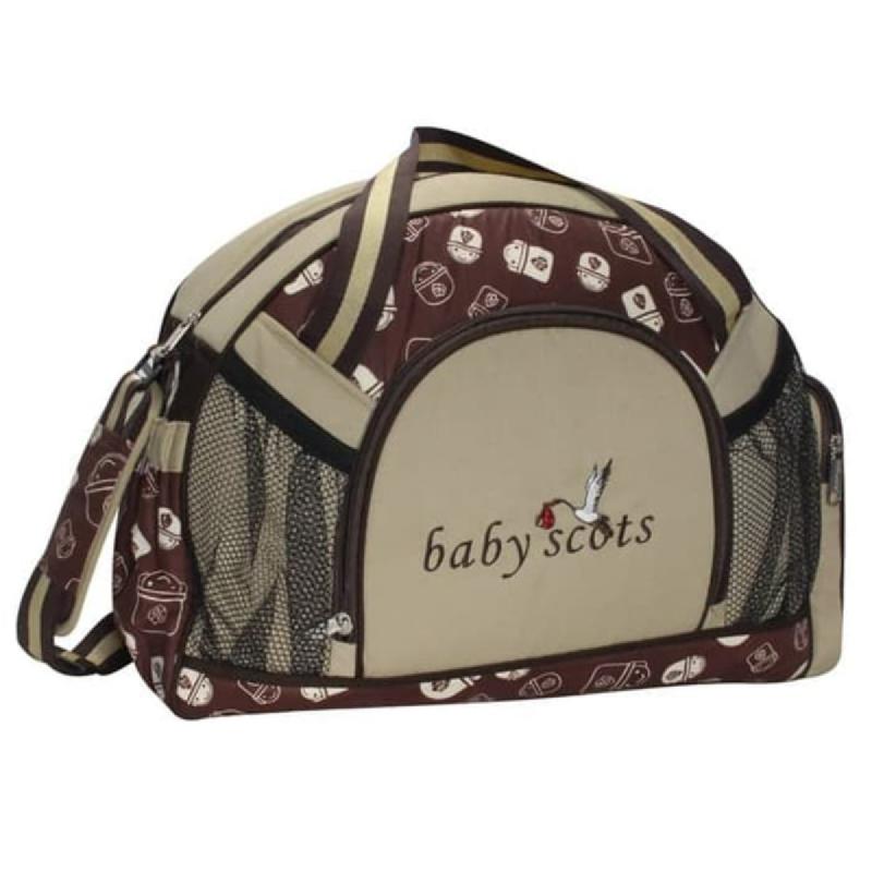 Baby Scots  Diapers bag print character+alumunium foil BST1302 Cokelat