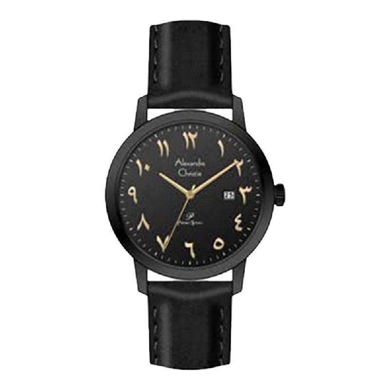 Alexandre Christie Primo Steel AC 1024 MDLIPBAIV Men Black Dial Black Leather Strap