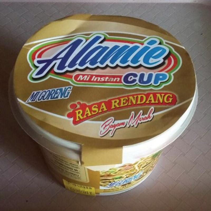Alamie - Mie Instant Cup Goreng Rendang Bayam Merah (5 Pack)