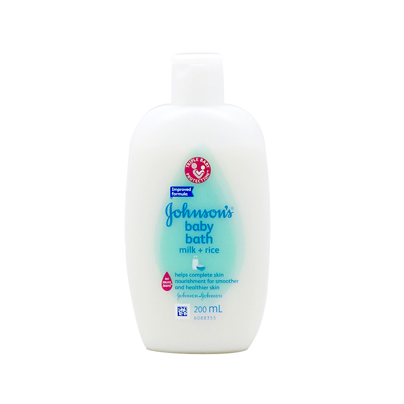 Johnsons Baby Bath Milk + Rice 200 Ml