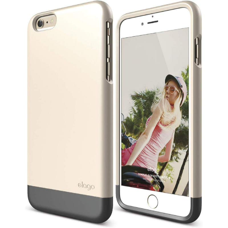 Elago Glide Case for iPhone 6 - Metallic Dark Gray + SF Champagne Gold