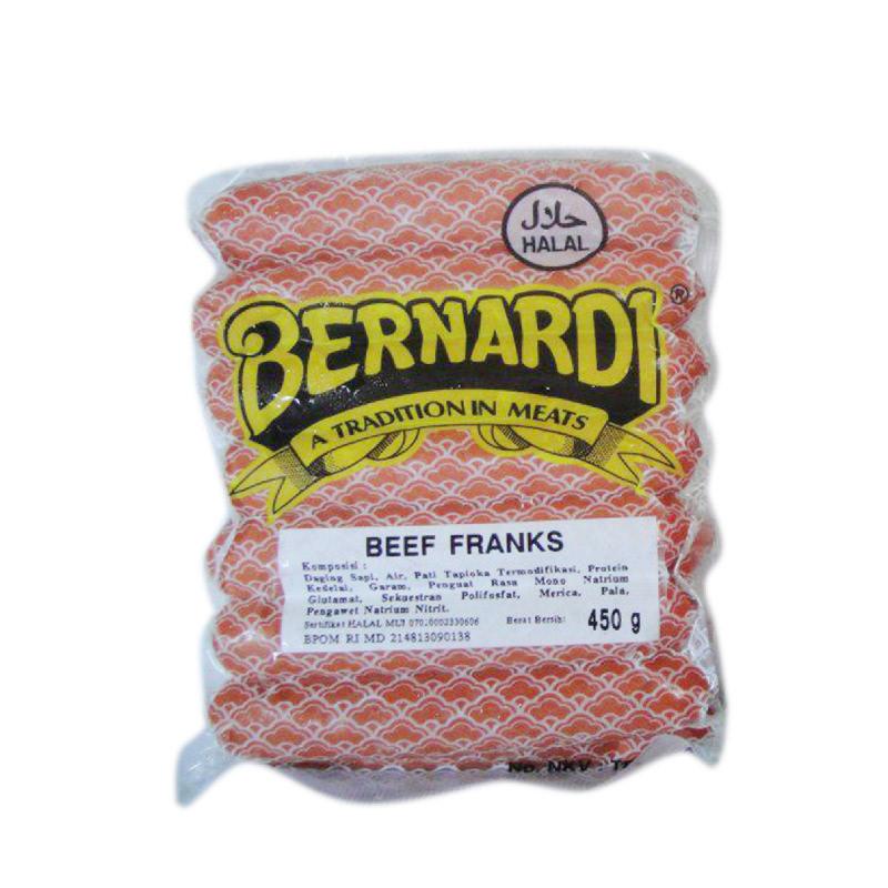 Bernardi Sosis Sapi Frankfurter  450 gr