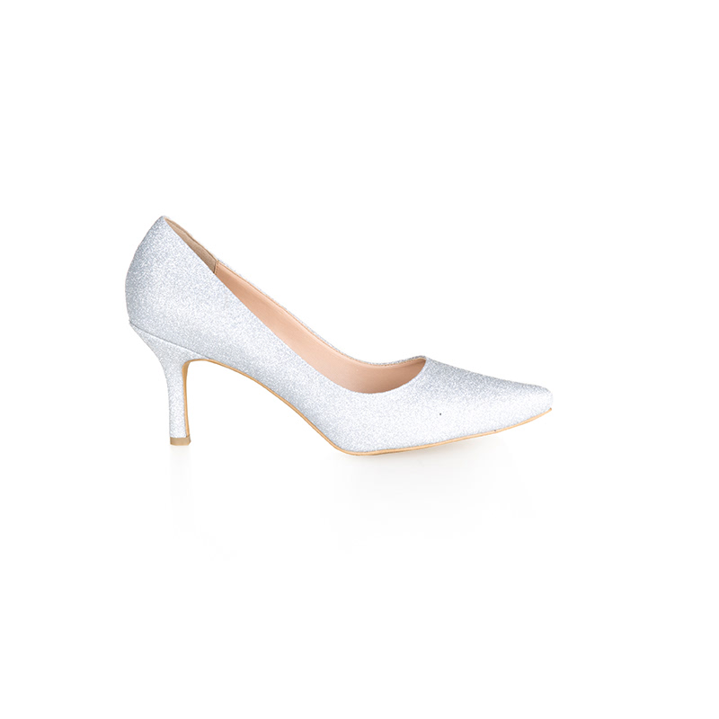 Armira High Heels Pointed Toe Shoes Silver