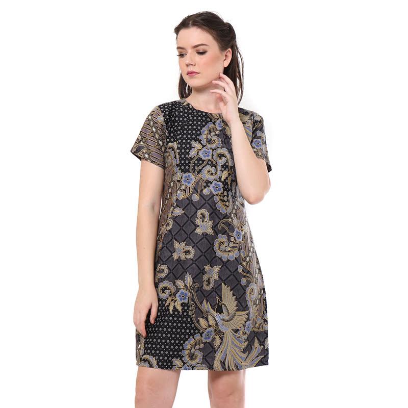 Aksa Batik Kinan Kenan Dress Grey