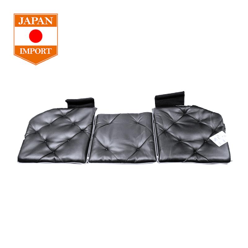 AQ Triple Cushion Soft Leather 130 Stitch Bantal Jok Mobil [Japan Import] Black