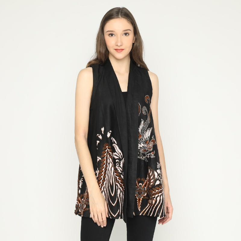 WINGGO Anta Outer Batik Vest Black