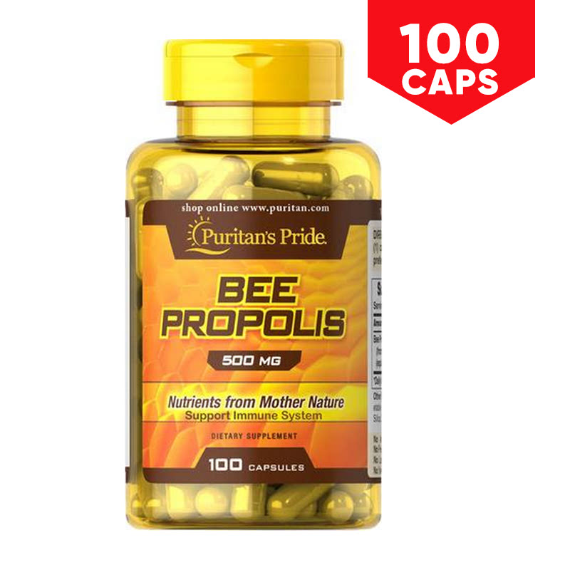 Puritans Pride Bee Propolis 500 mg 100 Capsules