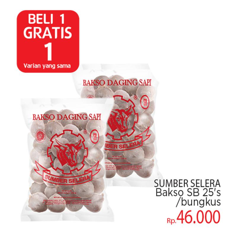 Bakso Sumber Selera Sb 25 S (Buy 1 Get 1)