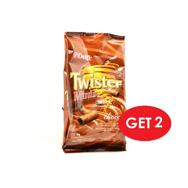 Twister Minis Choco 80 Gr (Get 2)
