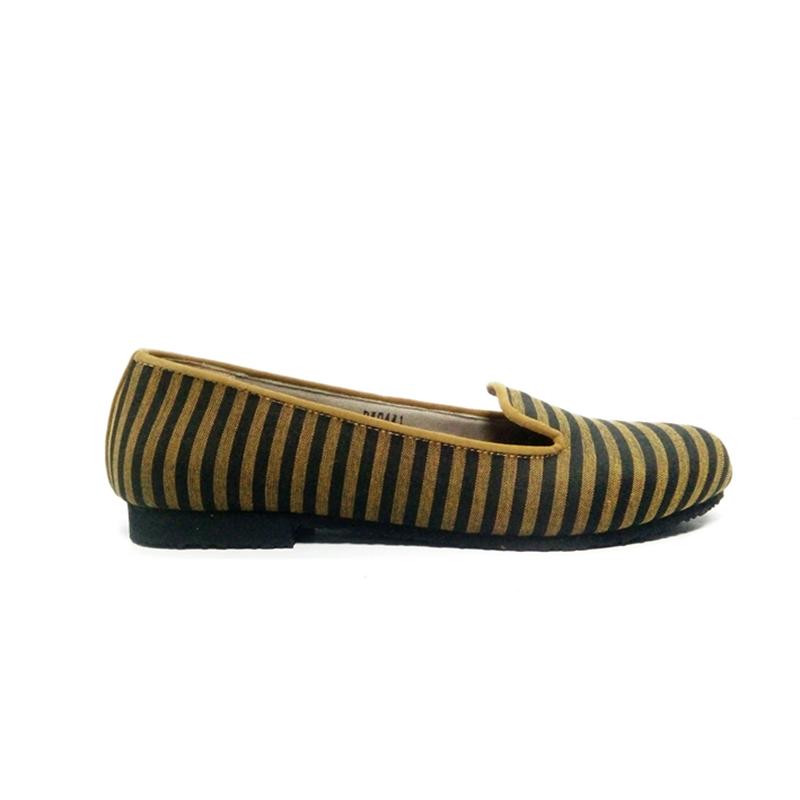 DAT Khansa Flat Shoes Lurik Black Tan