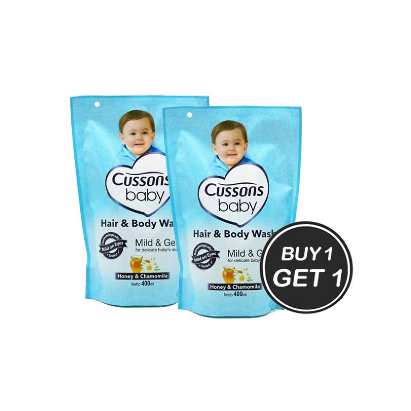 Cussons Baby Hair & Body Wash Mild & Gentle 400 Ml (Buy 1 Get 1)