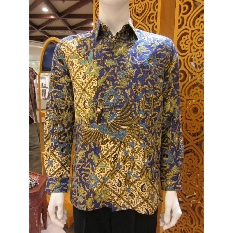 Batik Semar Hem Panjang Dobi Isen Sinawur 40 Biru (SML)