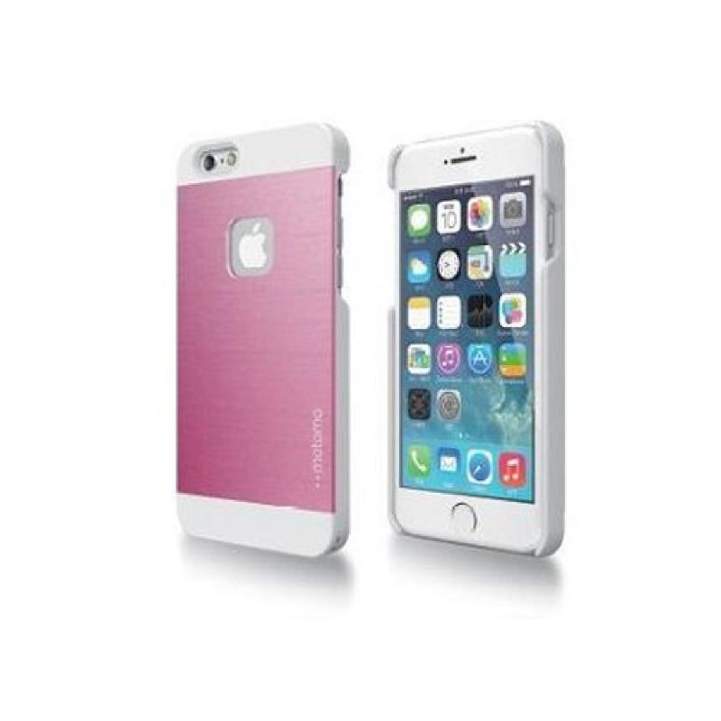 Motomo INO METAL AL1 iPhone6.6S Plus CASE - Pink Putih