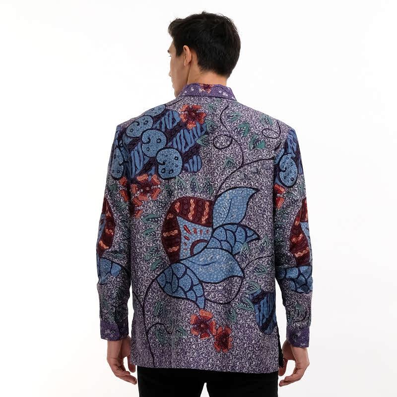 Batik Semar Full Fr Atbm Tl Brn Tanahan Shirt Purple