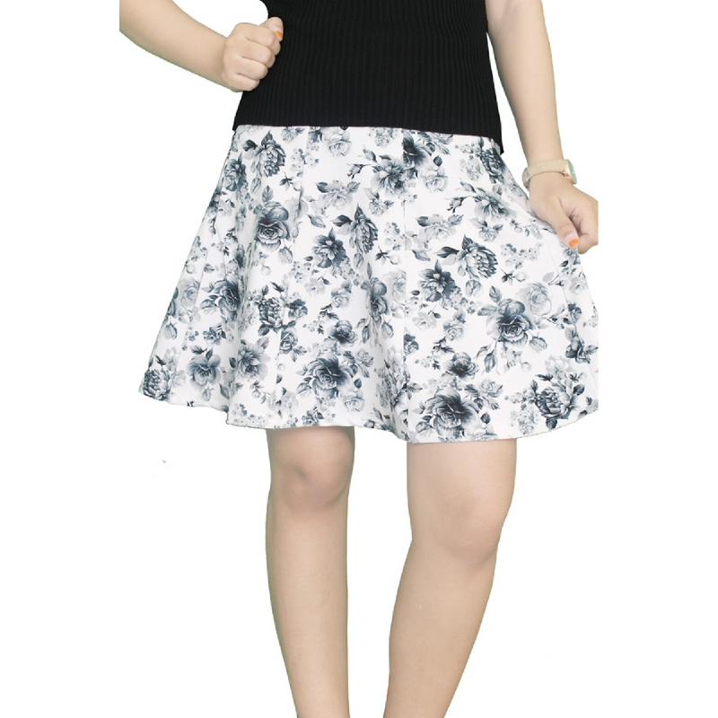 Gudang Fashion Rok Fashion Wedges - Putih ROK 116