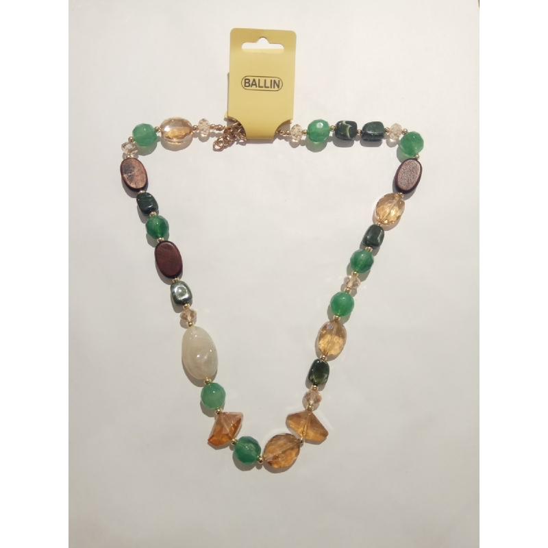 Ballin - Women Necklace YWO N006 1 Mix Colour Green