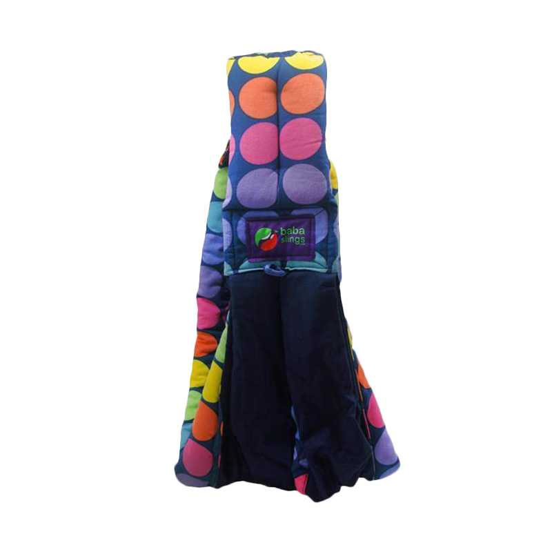 Baba Slings Gendongan Bayi - Rainbow Dot Navy