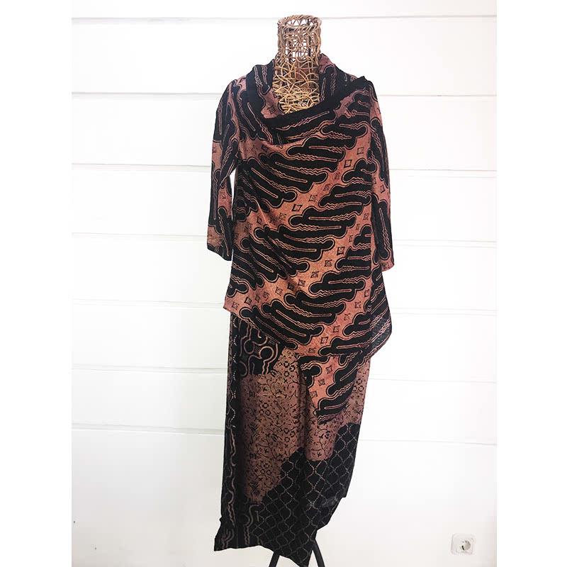 Batik Chic Celana Popok Coklat Hitam