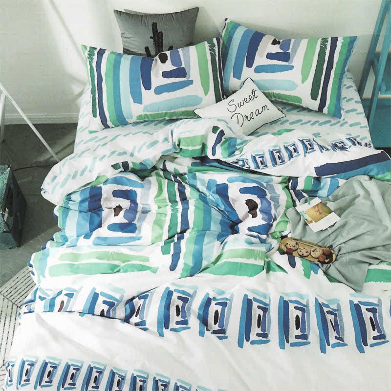 Sleep Buddy Set Sprei dan bed cover Darl White Cotton Sateen 120x200x30