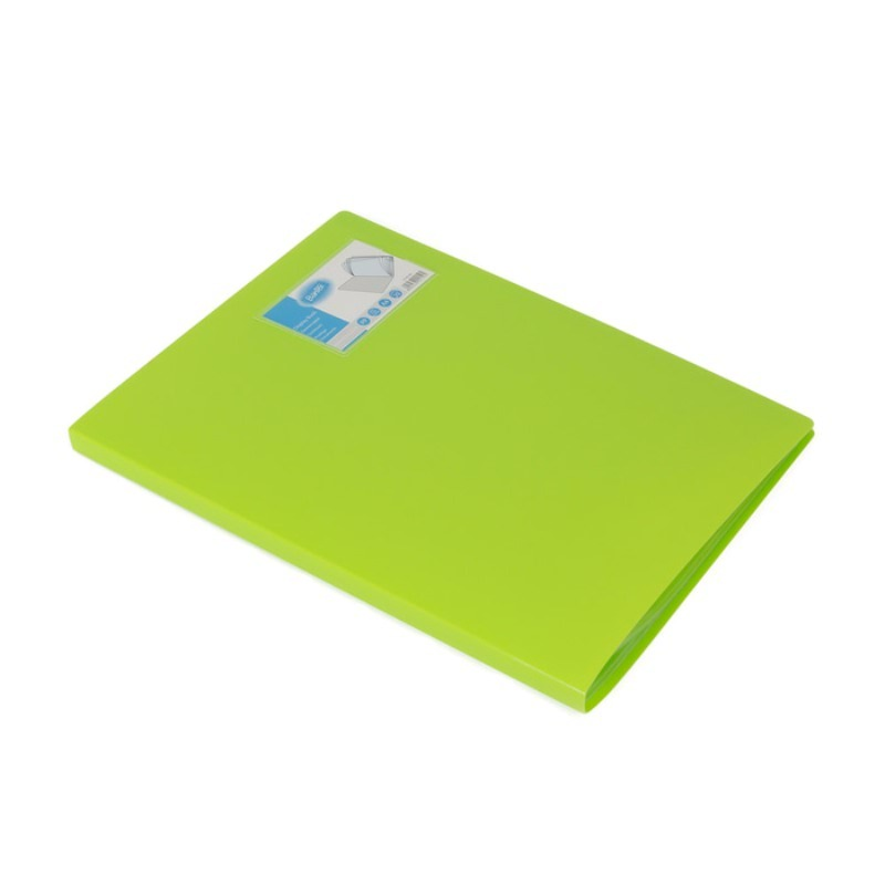 Bantex Display Book 20 Pockets A4 Lime -3143 65